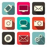 Internet Communication Icons Set Stock Image