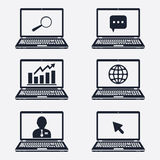Internet communication icons Royalty Free Stock Photography