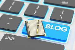 Internet communication, social media networking and blogging concept Stock Photo