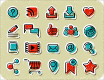 20 Internet Communication Stickers Royalty Free Stock Photos