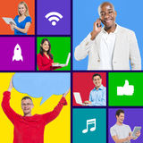 Internet communication tablet wifi technology Stock Photo