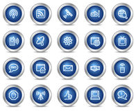 Internet communication web icons Royalty Free Stock Images