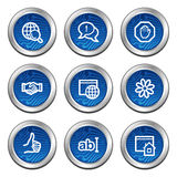 Internet communication web icons Royalty Free Stock Photography