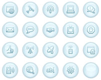 Internet communication web icons Royalty Free Stock Photo