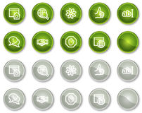 Internet communication web icons, circle buttons Stock Images