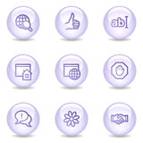 Internet communication web icons, pearl series Royalty Free Stock Photography