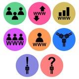 Internet Community Icon designs Stock Photos