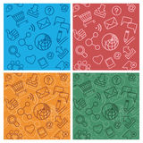 Internet community patterns multicolor Stock Photos
