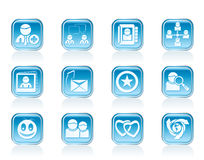 Internet Community and Social Network Icons Royalty Free Stock Photography