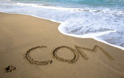 Internet company and ocean wave Stock Photography