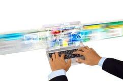 Internet: Compartecipazione di immagine Fotografia Stock