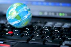 Internet computer business global Stock Photos
