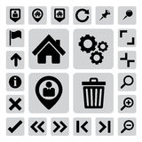Internet and computer icons set. Illustration Royalty Free Stock Photography