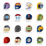 Internet, Computer and mobile phone icons Stock Image
