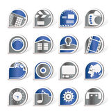 Internet, Computer and mobile phone icons. Vector icon set Stock Photos