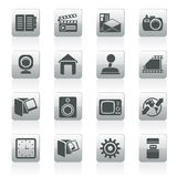 Internet, Computer and mobile phone icons Royalty Free Stock Image