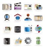 Internet-, Computer- und Handyikonen Stockbilder