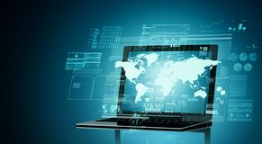 Internet Computerized Technology Concept stock photo
