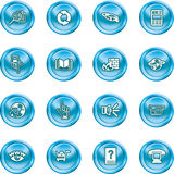 Internet or Computing Icon Set Stock Image