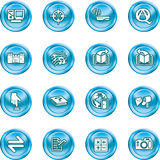 Internet or Computing Icon Set Stock Photo