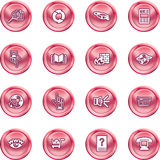 Internet or Computing Icon Set Royalty Free Stock Photography