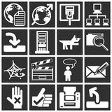 Internet and Computing Icons Stock Photography