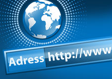 Internet Concept. World of Internet communication Royalty Free Stock Photography
