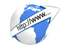 Internet Concept. Image of  Internet Concept in 3D Royalty Free Stock Photography