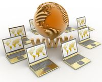 Internet concept. 3d rendered illustration Stock Photo
