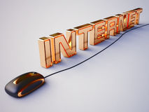 Internet Concept  in 3D Stock Image