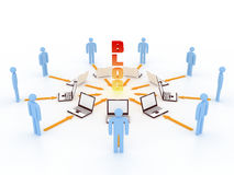 Internet concept. People share file via internet Royalty Free Illustration
