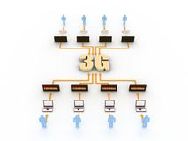 Internet concept. People use 3g to connect to internet Stock Illustration