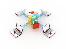 Internet concept. 3d concept of communication and internet technology Stock Illustration