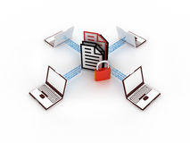 Internet concept. 3d concept of communication and internet technology Royalty Free Illustration