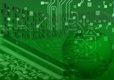 Internet concept abstract background. The green internet concept abstract background Stock Photography