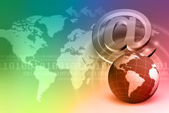 Internet Concept Background. With World Map Royalty Free Stock Image