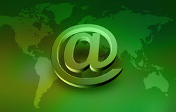 @. Internet Concept Background with E-mail Symbol Stock Images