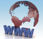 Internet concept. 3d  illustration Royalty Free Stock Image
