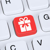 Internet concept gifts online shopping ordering Royalty Free Stock Photography