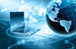 Internet Concept of global business  Royalty Free Stock Images