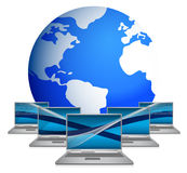 Internet Concept of global business Royalty Free Stock Image