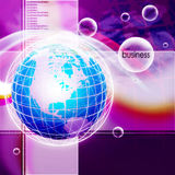 Internet Concept of global business Stock Image