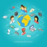 Internet Concept Isometric Stock Photo