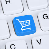 Internet concept online shopping order e-commerce internet shop. With shopping cart stock images