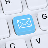 Internet concept sending E-Mail or email on computer keyboard Stock Image