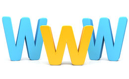 Internet Concept with WWW   in 3d Stock Images