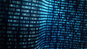 Internet: concepto del flujo de la información y de datos libre illustration