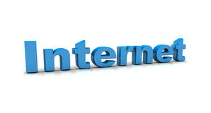 Internet concepts. And 3d text Royalty Free Stock Image