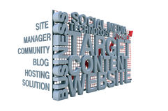Internet concepts. 3d internet concepts and white background Royalty Free Stock Photo