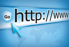Internet connect. Surfing the www internet connect Royalty Free Stock Images